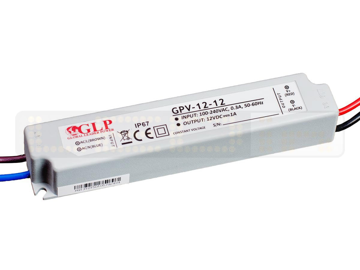 Zasilacz Led Gpv 12 12 1a 12w 12v Ip67